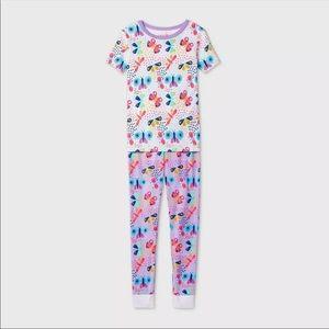 Girls' 2pc Butterfly Pajama Set - Cat & Jack- 10